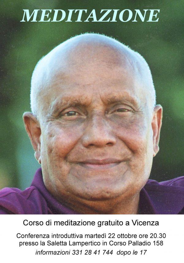 corso di meditazione 22 ottobre 2019